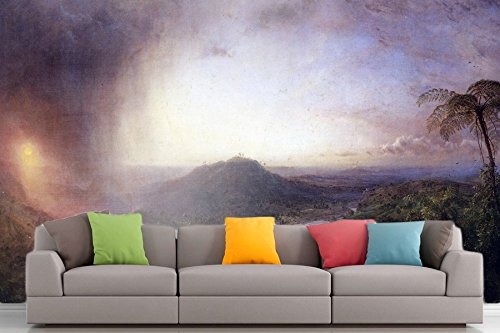 Roshni Arts®–kuratierte Art Wall Mural–Das Tal von St. Thomas, Jamaika von Frederick Edwin Church | selbstklebend Vinyl Ausstattung Décor Art Wand–243,8x 182,9cm