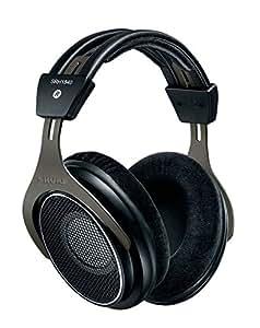Shure SRH1840 Professioneller offener Premium-Kopfhörer, natürlicher Klang mit weichen, erweiterten Höhen und akkurater Basswiedergabe, weite Stereoabbildung, gematchte Wandler, austauschbares Kabel, Velourpolster, schwarz/silber