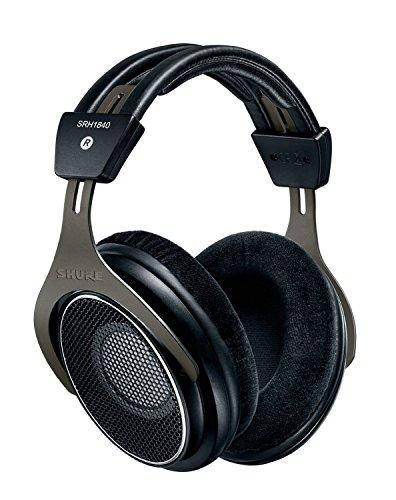 Shure SRH1840, offener Kopfhörer / Over-ear, schwarz/silber, High-End, geräuschunterdrückend, Kabel austauschbar, Velourpolster, natürlicher Klang, erweiterte Höhen, akkurater Bass, gematchte Wandler thumbnail