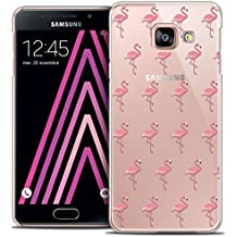 Caseink - Coque Housse Etui Samsung Galaxy A3 2016 (A310) [Crystal Motif HD Collection Pattern Design Les flamants Roses - Rigide - Ultra Fin - Imprimé en France]