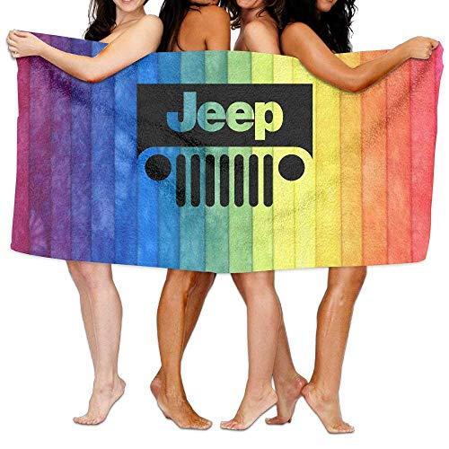 RGFJJE Strandtücher Handtücher Unisex Jeep Beach Towels Bath Towels for Teen Adults Travel Towel Washcloth 31x51 Inches