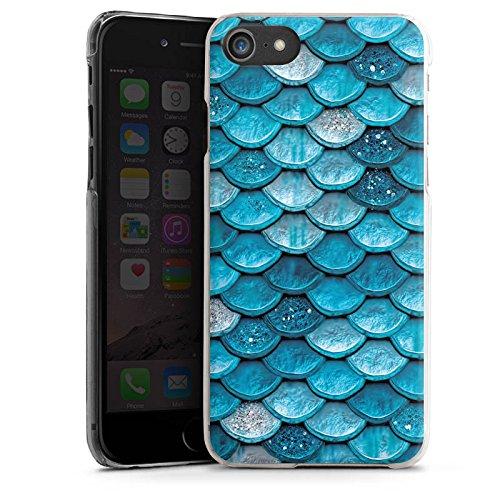 Apple iPhone 6 Plus Silikon Hülle Case Schutzhülle Mermaid Meerjungfrau Schuppen Hard Case transparent