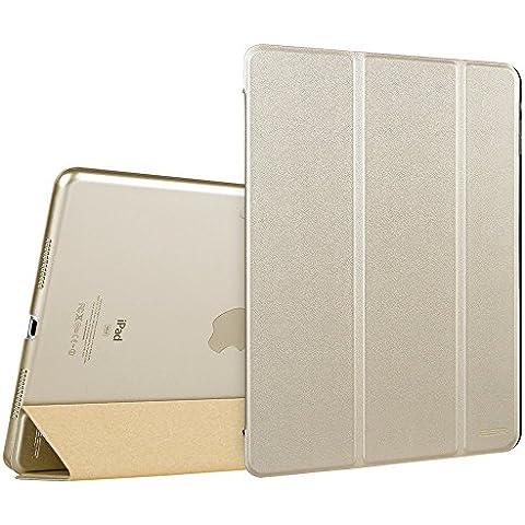 ESR Funda iPad Pro 12.9, [Automático Arriba / Sueño][Soporte Plegable] Carcasa Smart Cover de Triple Plegado para iPad Pro 12.9 inch, Dorado