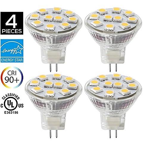 LED Lampe GU4/ MR11 2W, ersetzt 20W Glühlampe, 3000K warmweiß, 200lm, LED Leuchtmittel, SANSUN 12V DC /AC 120° Abstrahlwinkel, LED