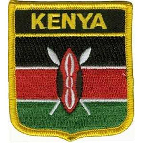 Everflag Patch zum Aufbügeln oder Aufnähen : Kenia - Wappen -
