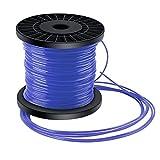 Trimmer String Trimmer String Trimmer Net Wire 5 Rim Cable de Nylon Trimmer Diámetro Wire 2,4 mm x 100m Azul