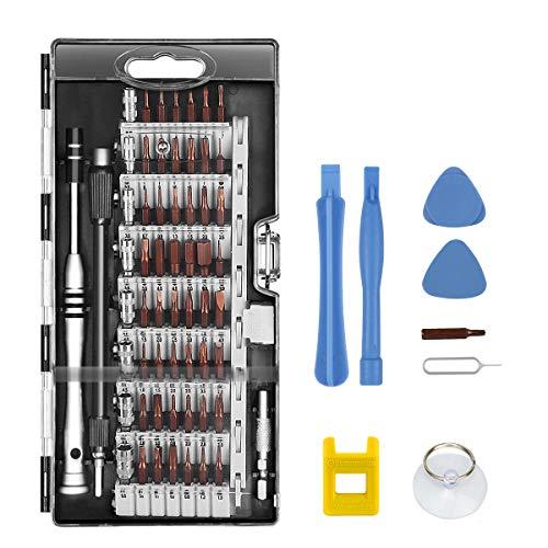 Schraubendreher Set, TedGem 68 in 1 Magnetic Präzisions Reparatur Werkzeug, Professional Tool Kit mit Flexibler Welle für Telefon/computer / Xbox/Kamera / PC/Macbook / Fahrrad - Schwarz
