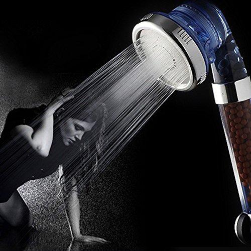 Gesunde Negative Ionic Dusche Kopf SPA Handheld Filter Filtration Duschkopf Hohe Druck Wasser Energiesparend mit 3-Wege-Dusche Modi für trockene Haut & Haar -