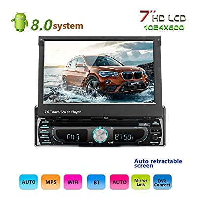 podofo Android 8.0 car stereo 1 Din 7 inch