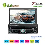 podofo Android 8.0 Car Stereo with Reversing Camera 4 LED Single Din 7""