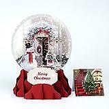 PopUP 3D Weihnachten Schneekugel Grußkarte PopShot Weihnachtstür Schneemannn 9x13cm