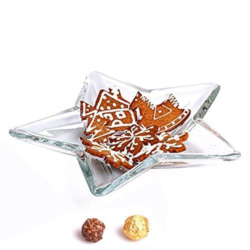ZHAS Haushalt Wohnzimmer fünfzackigen Stern Mode Creative Glass Obstschale Küche Zucker - Crystal Schale Zucker
