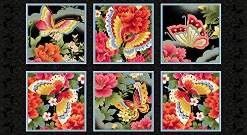 Schmetterling Fantasy Rot Bedruckt Baumwolle Stoff Panel Kona Bay Fant 01rot -