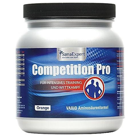 SanaExpert Competition Pro, Isotonisches Kohlenhydratgetränk mit Aminosäuren und Vitaminen, Pulver,