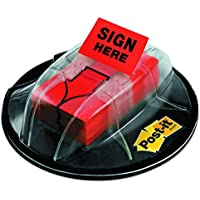 "Post-it Index 680-SHVR200 - Dispensador de etiquetas autoadhesivas (25 x 43,2mm, 200 etiquetas), diseño con texto ""Sign here"""