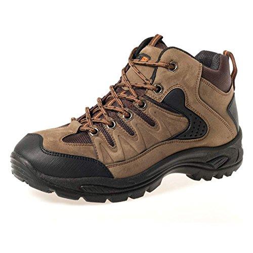 Mens Walking comfortable walking hiking boot - UK 12 / EU 46, Khaki