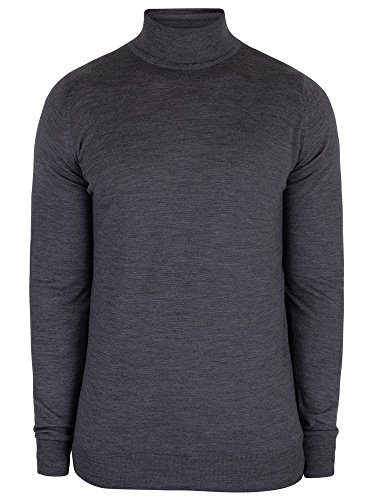 John Smedley Uomo Richards con Collo a Imbuto Knit, Grigio, XL