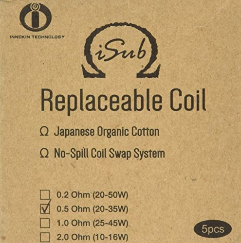 INNOKIN 0.5 ohm Isub Coils – Pack of 5