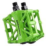 Mountain Bike Pedali in Lega di Alluminio Piattaforma per Strada BMX Biciclette Fixed Gear 9/16 Verde