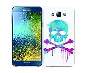 Galaxy Printed 2814 Skulls & Crossbones Brush Hard Cover for Samsung J1