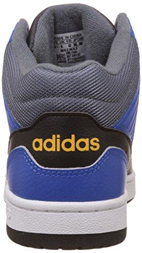 adidas Hoops Jumpshot Mid, Chaussures de Sport Homme Multicolore - Varios colores (Negro (Negbas / Negbas / Azul))