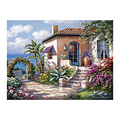 Seawang DIY Quiet House Diamant Stickerei Gemälde Full Drill Mosaic Kreuzstich a