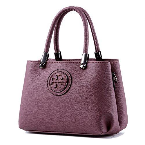 Ruiren Multifunktions Portable und Bequeme Geprägte Handtasche für Frauen, Messenger Schulter Tasche Handtasche Portable Schultertasche für Frauen Dunkel Violett