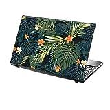 TaylorHe 39,6cm 38,1cm Notebook Skin Vinyl Aufkleber mit farbigen Mustern und Leder Effekt Laminat hergestellt in England Tropical Flowers and Leaves