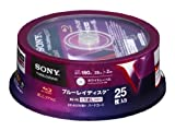 25 Sony Bluray Rewritable Discs BD-RE 25GB Single Layer Inkjet Printable Made in Japan Version