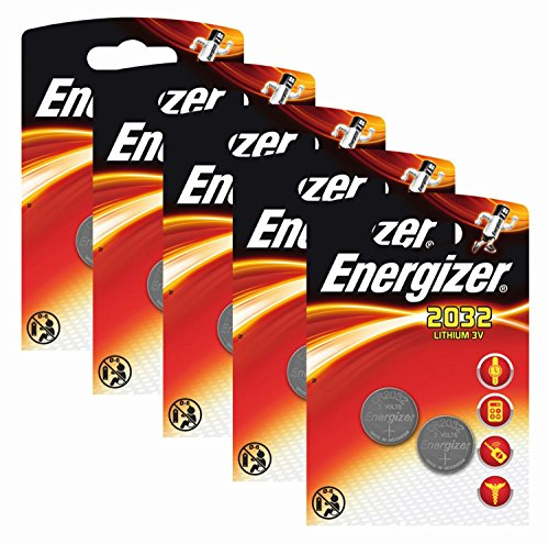 Energizer Original Batterie Lithium CR 2032 (3 Volt, 5x 2-er Pack) -