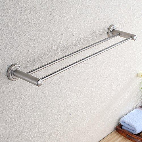 304 Edelstahl Handtuchhalter/Handtuch hängen, doppelt gebürstet Bad Zubehör (Größe: 40cm) -