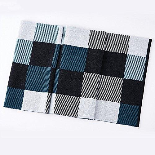 Hommes Automne et Hiver tricot carré épais écharpe en laine ( couleur : 1 ) 1