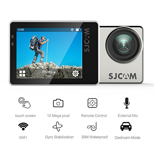 Best SJCAM SJ7 STAR WiFi 4K Action Camera Ambarella Chipset 30fps Sony Sensor 12M 2″Touchscreen/ Remote Control/Microphone Supported/ Gyro Stabilization Metal Body Camera Black+2*Battery+Dual Charger Review