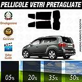 Kit Chevrolet Orlando dal 2011 ad OGGI Pellicole Oscuramento Vetri Posteriori Auto Pre Tagliate a Misura - 20%