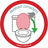 4x Bitte Klodeckel zumachen - Klodeckel runter: Toiletten bzw. WC