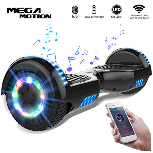 "Mega Motion Self Balance Scooter 6,5"" -2018 Elektro Scooter E-Skateboards - Scooter - UL zertifizierten 2272 LED - Räder mit LED Licht -Bluetooth Lautsprecher - 700W Motor"