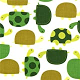 süßer Stoff mit grünen Schildkröten Robert Kaufman