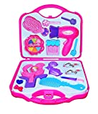 #4: Babytintin™ Fashion Girl Beauty Set Make up Toy Pretend Play Girls Toys Set, Makeup Toy with Mirror Hairdryer and Styling Accessories Pink for Kids Birthday Gift