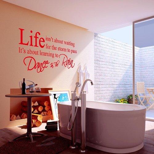 Pegatina-Adhesivo-vinilo-decorativo-pared-Frases-Rojo-4545cm