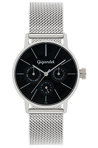 Gigandet G38-006 - Reloj para mujeres, correa de acero inoxidable color plateado