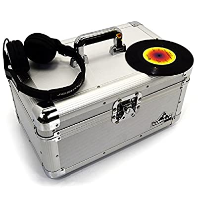 "Gorilla 7"" Singles Vinyl Records Carry Case Storage Box (Silver) Holds 200 Including Lifetime Warranty"