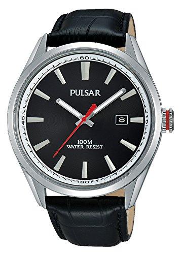 Pulsar Homme Analogique Quartz Montre avec Bracelet en Cuir PS9375X1