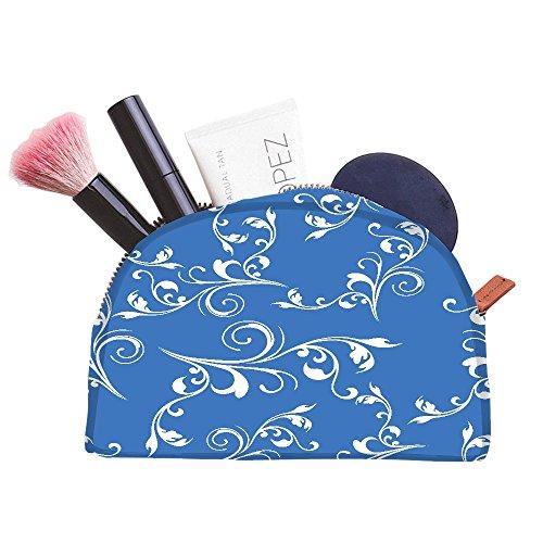 Snoogg weiß Herz mit Perlen Designer Multifunktional Leinwand Pen Tasche Bleistift Fall Make-Up Tasche für die Werkzeugtasche Geldbörse (Handtaschen Perlen Designer-handtasche Handtaschen)