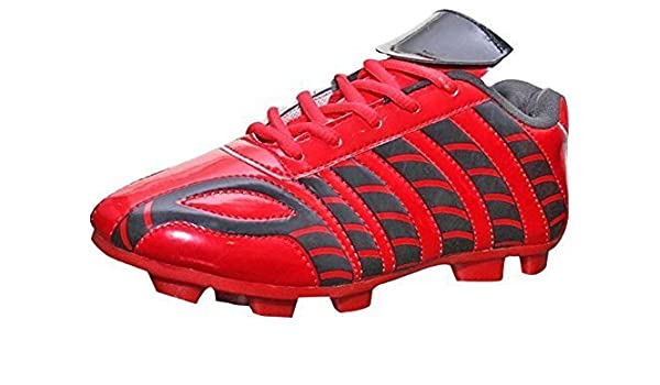 26a07988c7f9 ARYANS Sports RED Football Soccer Shoes for Womens  Amazon.in  Shoes    Handbags