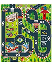 certainPL Kids Carpet Playmat Rug City Life Playing with Cars & Toys Play Safe Learn Educational Rea Rug for Playroom Bedroom 27.5X 31.5Inches One Size A