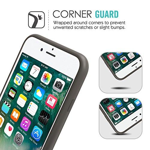MoKo Hülle für iPhone 7 - Premium Ultra Slim Flexible Silikon Handy Schutzhülle Schale Phone Case Etui Bumper für Apple iPhone 7 4.7 Zoll Smartphone, Rosa sand Kakao