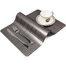 OneBelief manteles individuales de mesa, antideslizantes, impermeables, se limpian con un paño,