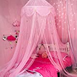 LIN HE SHOP Garn Moskitonetz Baldachin Kuppel Prince & Princess Star Spielzelt & Spielhaus für...