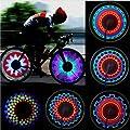 Goldfox® Fahrrad Bunter Regenbogen LED Rad Speichenl Licht Lampe 16 LED 32 Muster (16 LED)