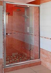 Porta per box doccia nicchia cm 100 con vetro trasparente - Box doccia fai da te ...